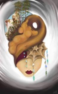 """""""Meditation Mask"""" by Taylour Rudzinski"""